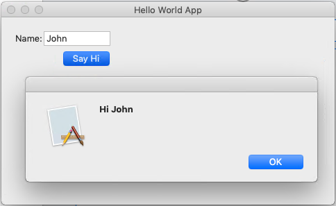 "Create ""Hello World"" MacOS App"