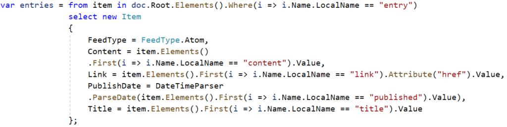 Atom Code Sample