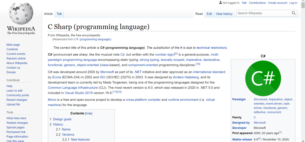 Article Sample on Programming Languages category