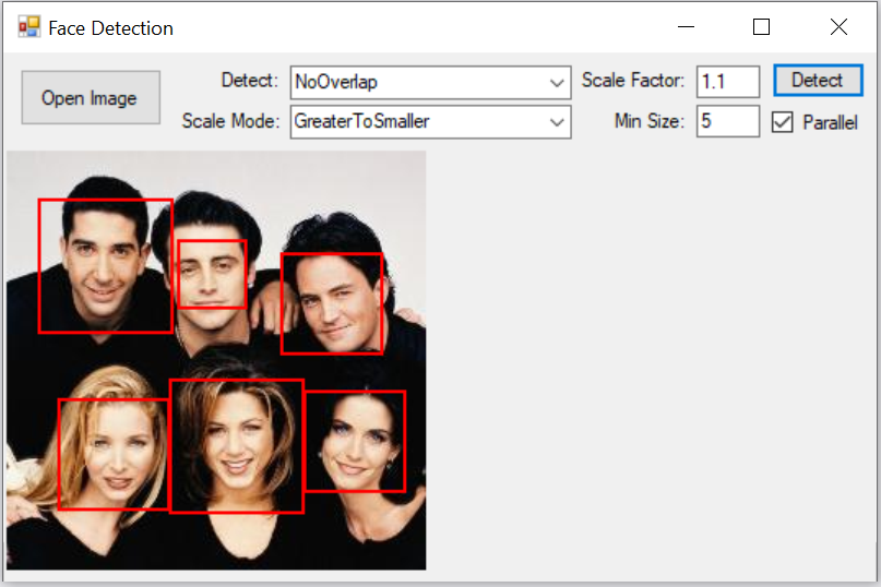 Image Face Detection with C# NET