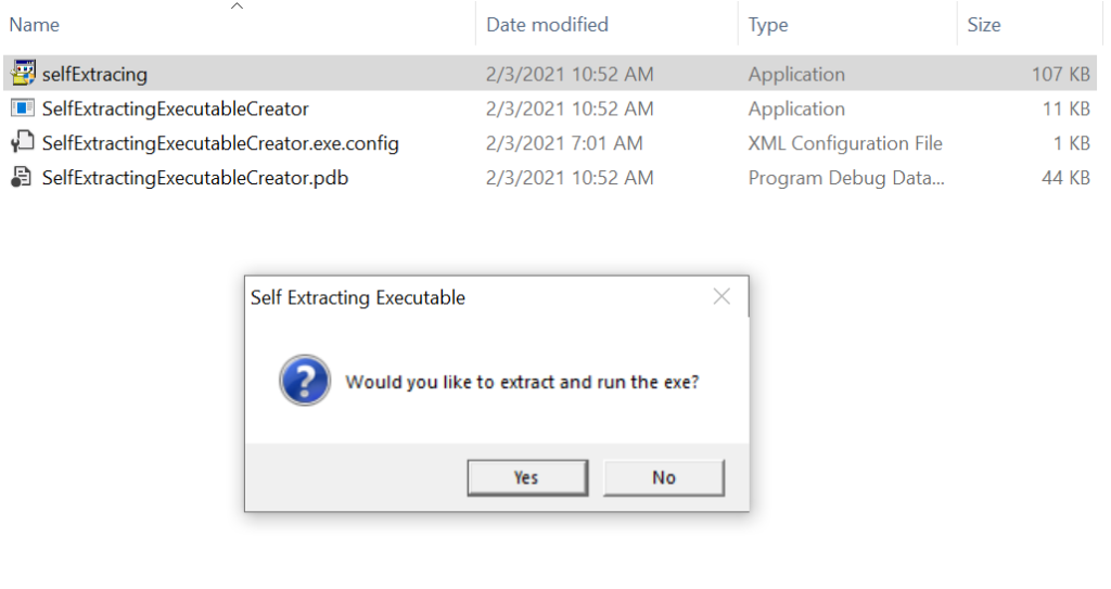 Run the exe file