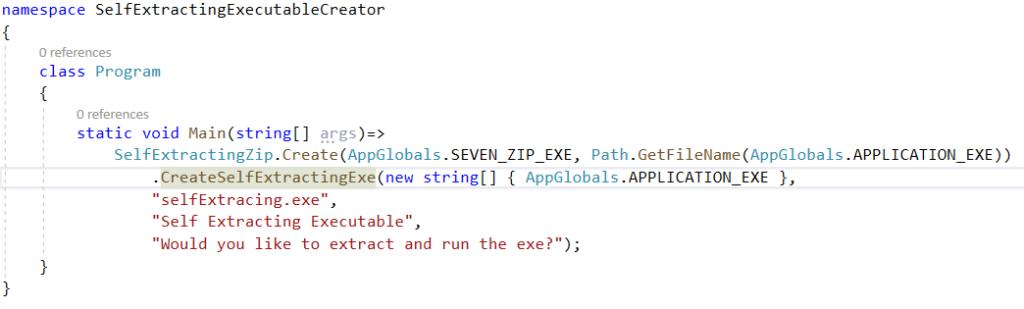Main Application Code