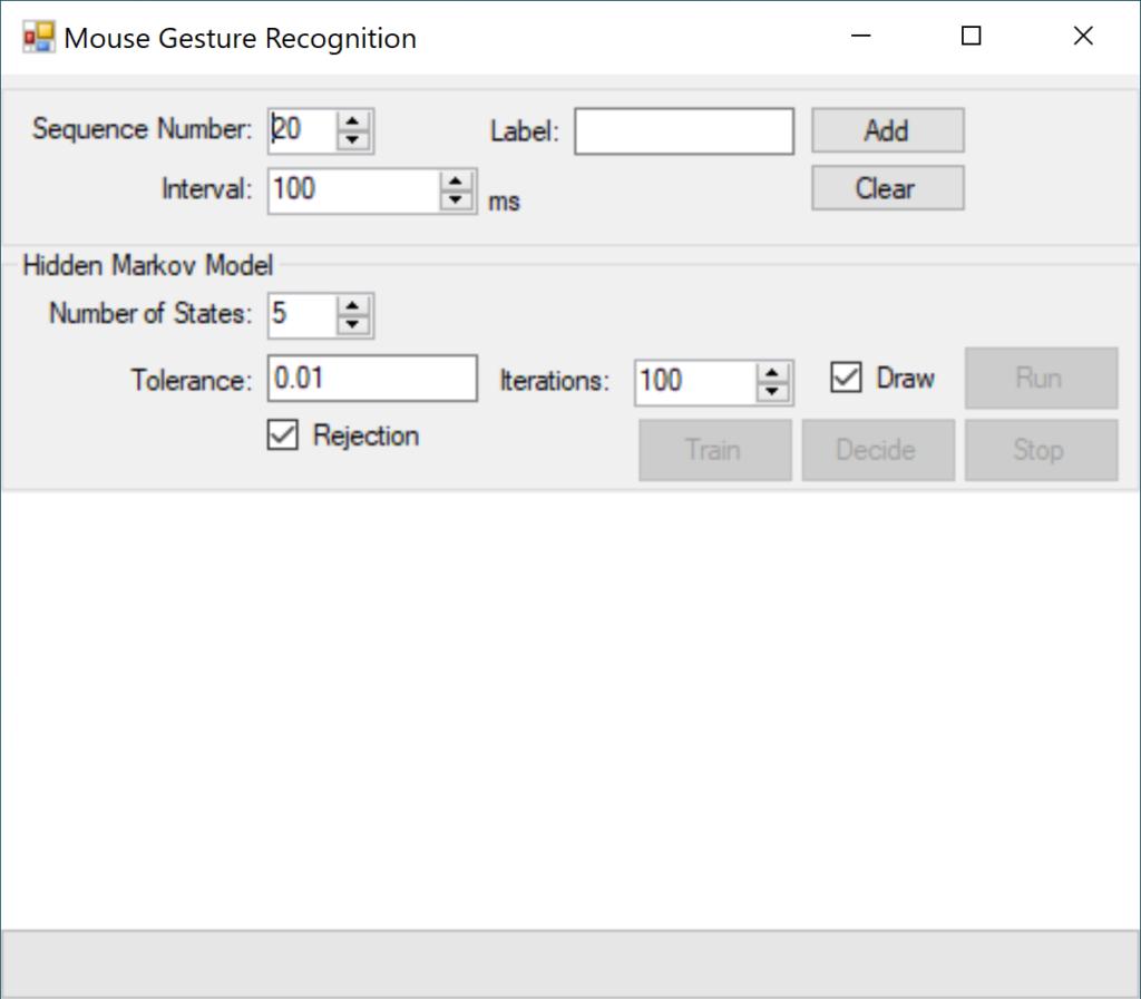 Hidden Markov Models in C# a Mouse Gesture Recognition Application