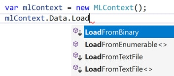 Data Loader Options in ML.NET