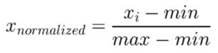 Data Normalization Equation